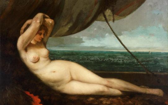 "Гюстав Курбе (Gustave Courbet), ""Обнаженная у моря"""