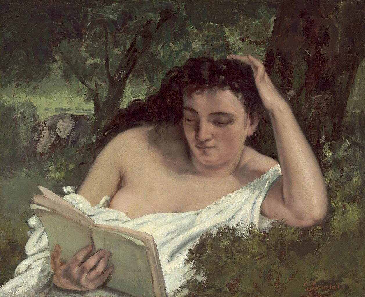 """Гюстав Курбе (Gustave Courbet), """"Молодая читающая женщина"""""""
