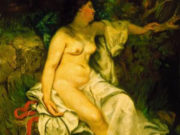 "Гюстав Курбе (Gustave Courbet), ""Купальщица, спящая у ручья"""