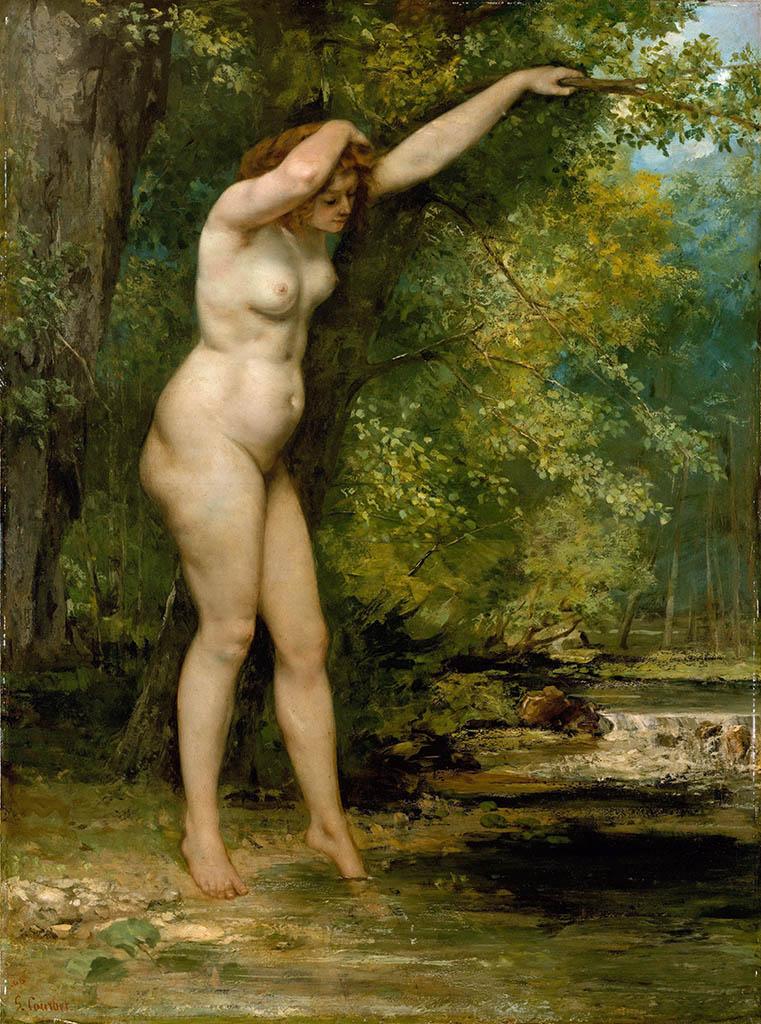 "Гюстав Курбе (Gustave Courbet), ""Молодая купальщица"""