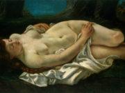 """Гюстав Курбе (Gustave Courbet), """"Возлежащая женщина"""""""