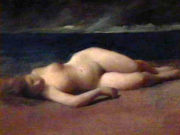 "Кеньон Кокс (Kenyon Cox) ""Reclining Nude On The Beach"""
