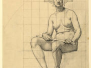 "Кеньон Кокс (Kenyon Cox) ""Drawing, Nude Study for The Active Life"""