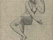 "Кеньон Кокс (Kenyon Cox) ""Nude Study for Mosaic, Wisconsin State Capitol, ""Liberty"""""
