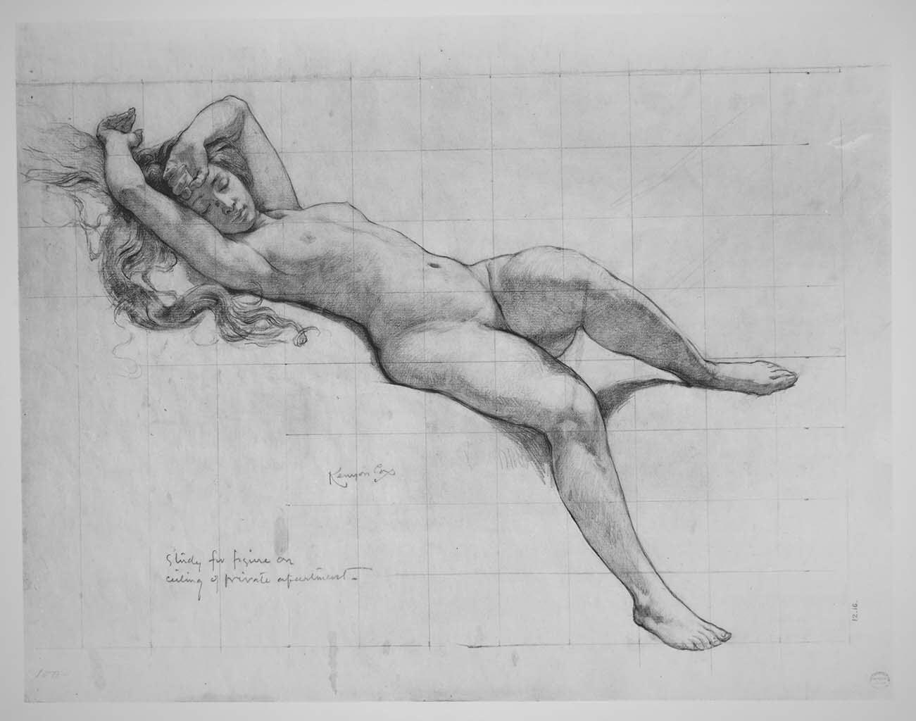"Кеньон Кокс (Kenyon Cox) ""Study for Ceiling Decoration"""