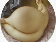 "Джон Каррен (John Currin) ""Nude in a Convex Mirror"""