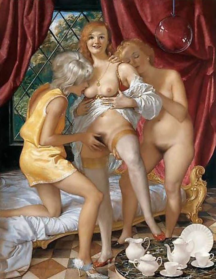 "Джон Каррен (John Currin) ""The Women of Franklin Street"""