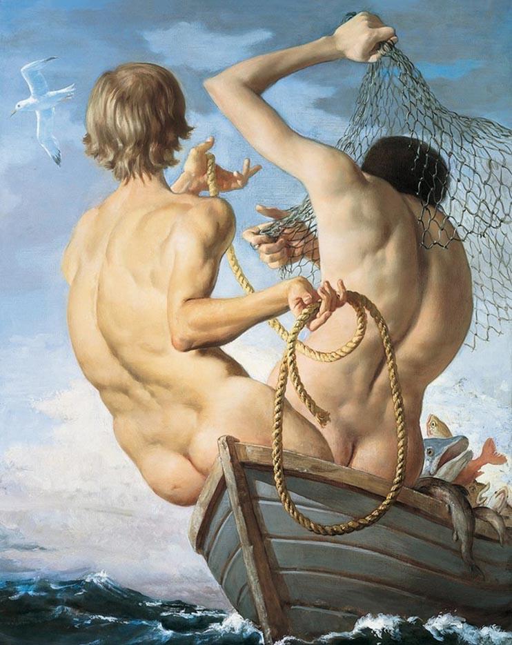 "Джон Каррен (John Currin) ""Fishermen"""