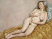 "Джон Каррен (John Currin) ""Venus with Watch"""