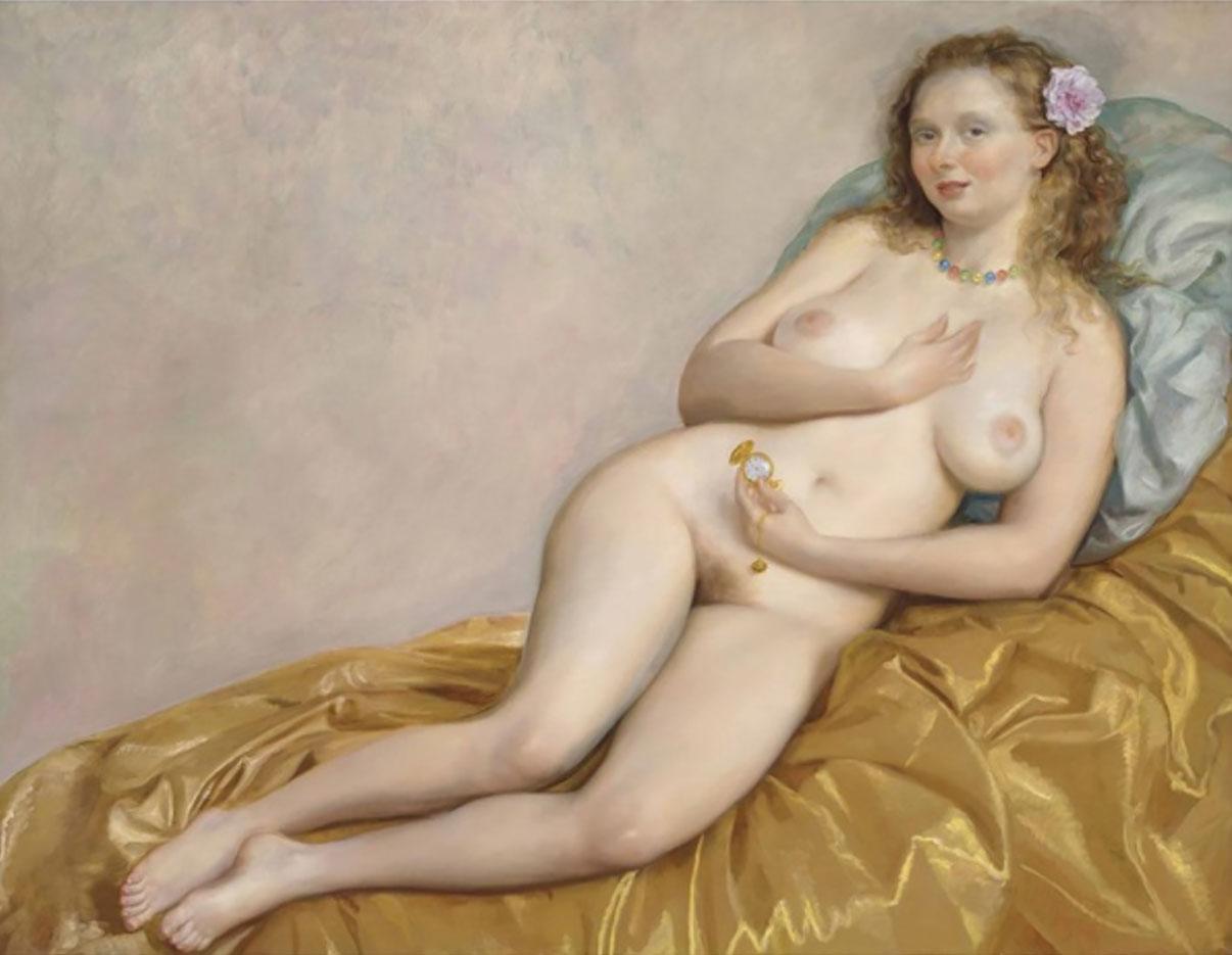 """Джон Каррен (John Currin) """"Venus with Watch"""""""