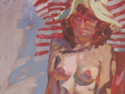 "Джон Каррен (John Currin) ""Untitled - Portrait of nude woman"""