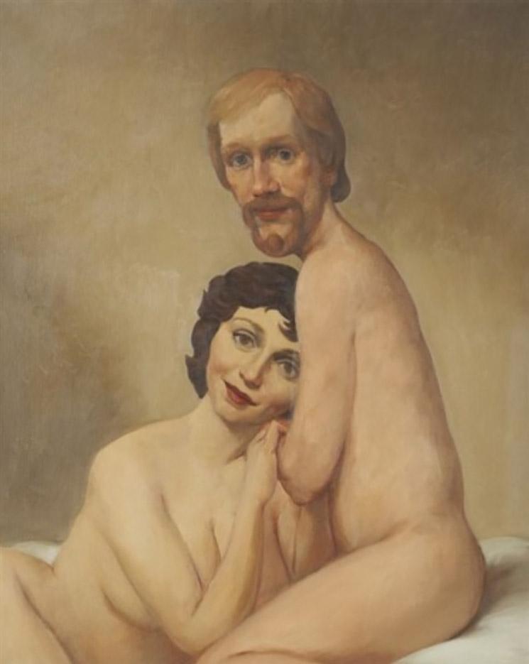 """Джон Каррен (John Currin) """"Couple in bed"""""""