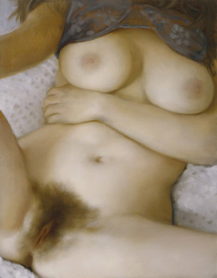 "Джон Каррен (John Currin) ""Purple Bra"""