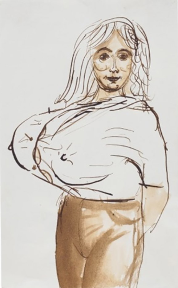 "Джон Каррен (John Currin) ""Big Breasted Woman"""