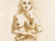 """Джон Каррен (John Currin) """"Woman with child"""""""