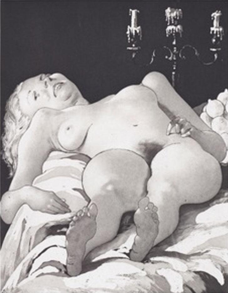 """Джон Каррен (John Currin) """"Nude on a Table"""""""