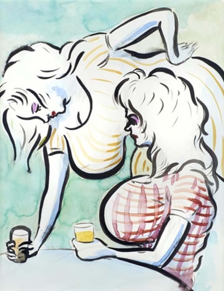 "Джон Каррен (John Currin) ""Café Girls"""