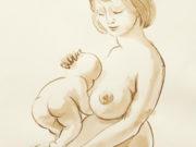 """Джон Каррен (John Currin) """"Woman and Baby"""""""
