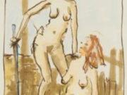 "Джон Каррен (John Currin) ""Untitled (study for The Pink Tree)"""