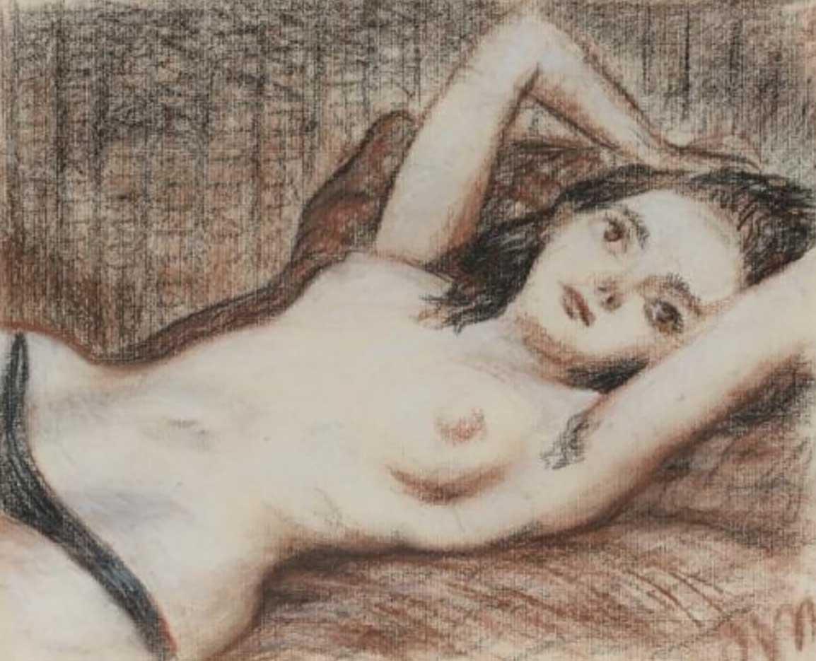 """Джон Каррен (John Currin) """"Reclining nude"""""""