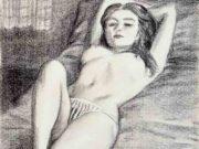 "Джон Каррен (John Currin) ""Untitled - Reclining nude"""