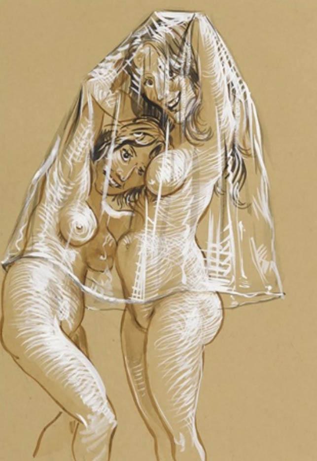 "Джон Каррен (John Currin) ""Untitled - 73"""