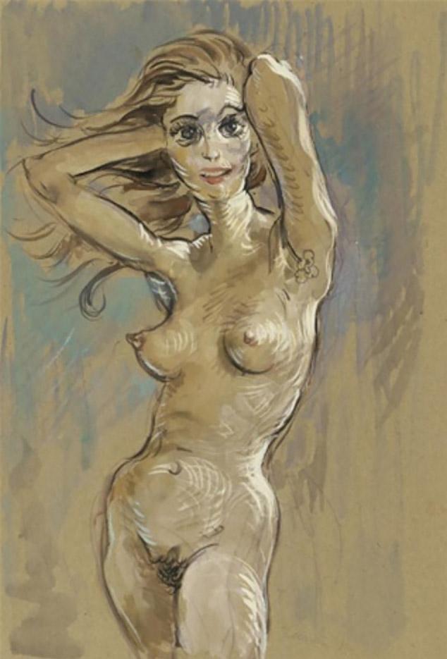 "Джон Каррен (John Currin) ""Untitled - 76"""