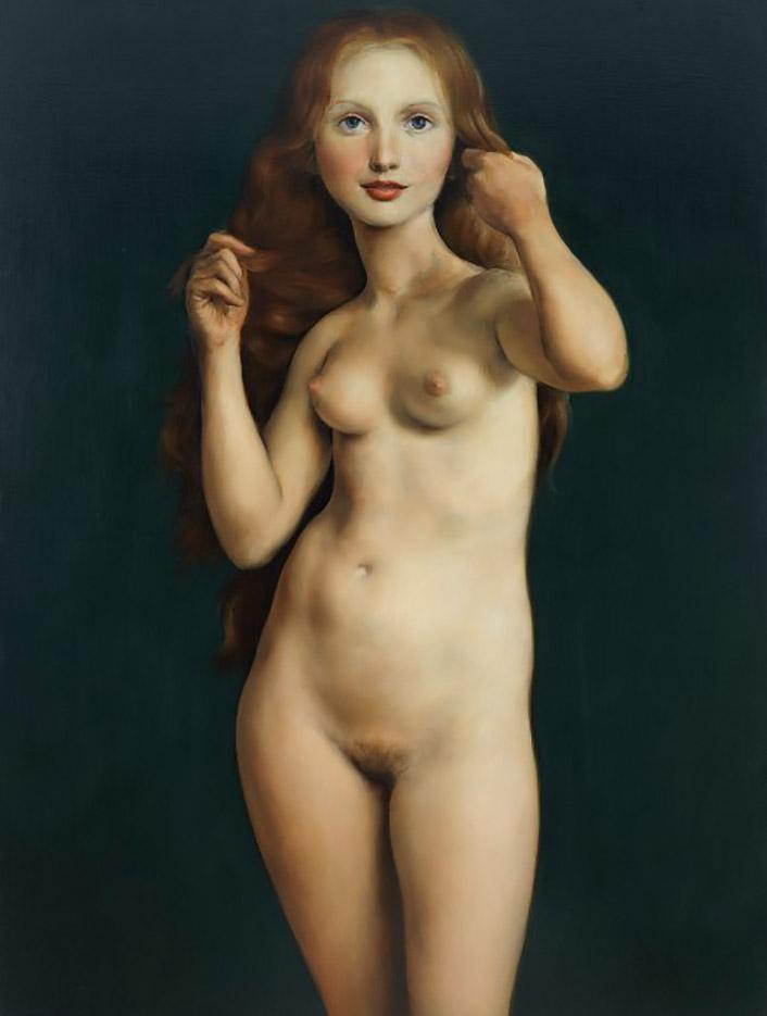 """Джон Каррен (John Currin) """"Nude with Raised Arms"""""""