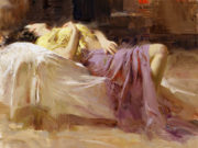 "Пино Даени (Pino Daeni) ""Afternoon Repose"""