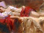 "Пино Даени (Pino Daeni) ""Available Restful"""