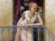 "Пино Даени (Pino Daeni) ""At the Balcony"""