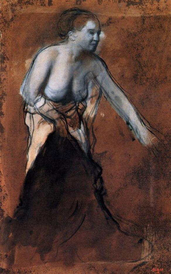 """Эдгар Дега (Edgar Degas), """"Стоящая обнаженная"""""""