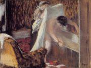 """Эдгар Дега (Edgar Degas), """"Женщина, выходящая из ванной (2)"""""""