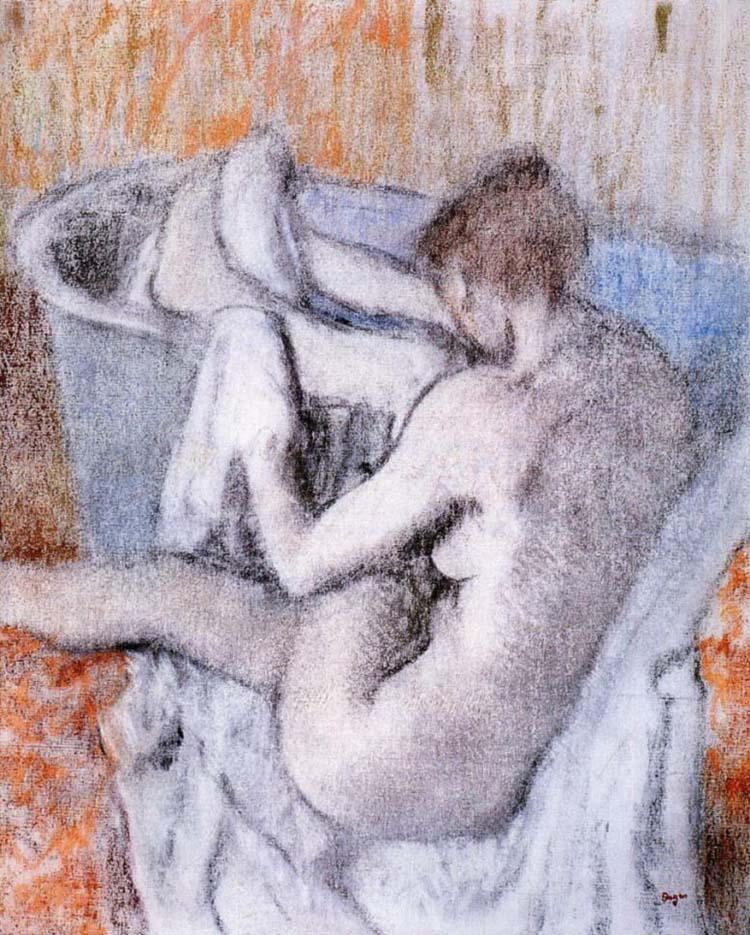 """Эдгар Дега (Edgar Degas), """"После ванны (2)"""""""