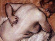 """Эдгар Дега (Edgar Degas), """"Обнаженная женщина в полуобороте спиной"""""""