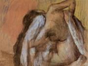 """Эдгар Дега (Edgar Degas), """"Сидящая обнаженная, вытирающая шею и спину"""""""