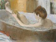 """Эдгар Дега (Edgar Degas), """"Женщина в ванной, моющая ноги"""""""