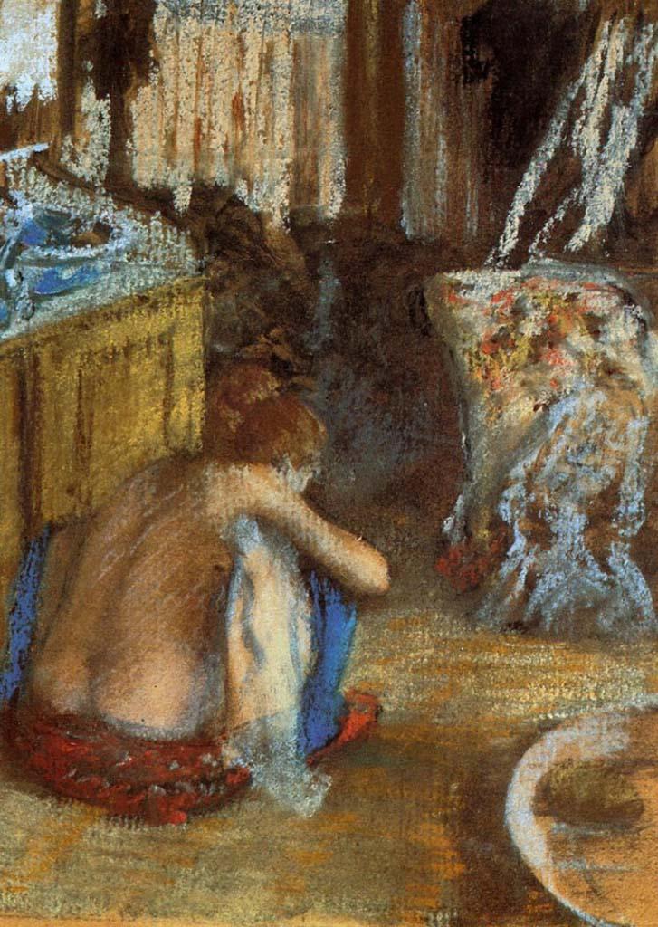 """Эдгар Дега (Edgar Degas), """"Сидящая на корточках женщина"""""""