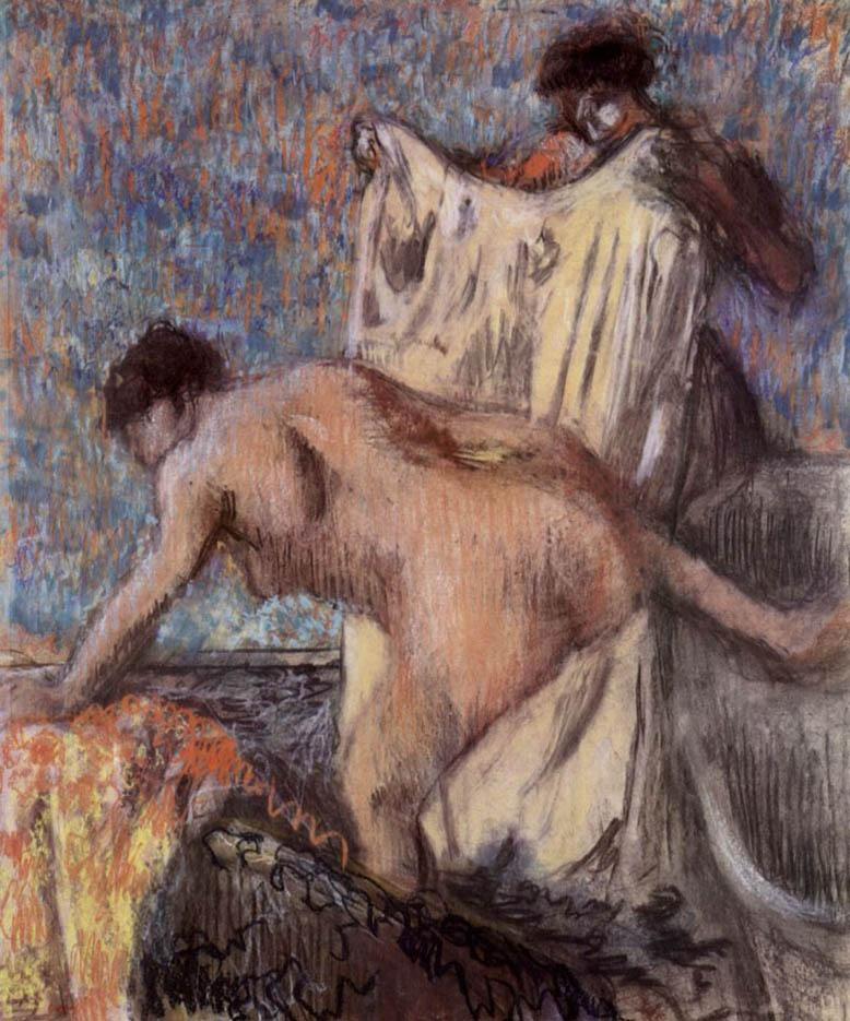"""Эдгар Дега (Edgar Degas), """"После ванны (5)"""""""
