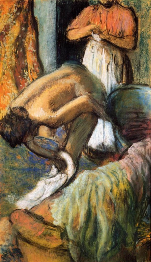 "Эдгар Дега (Edgar Degas), ""Завтрак после ванны. Чашка кофе"""