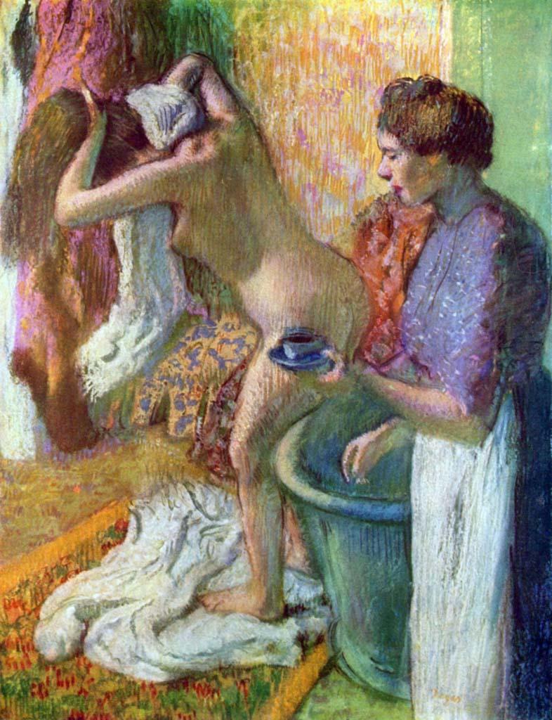 "Эдгар Дега (Edgar Degas), ""Завтрак после купания"""