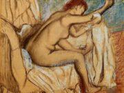 """Эдгар Дега (Edgar Degas), """"Вытирающаяся женщина"""""""