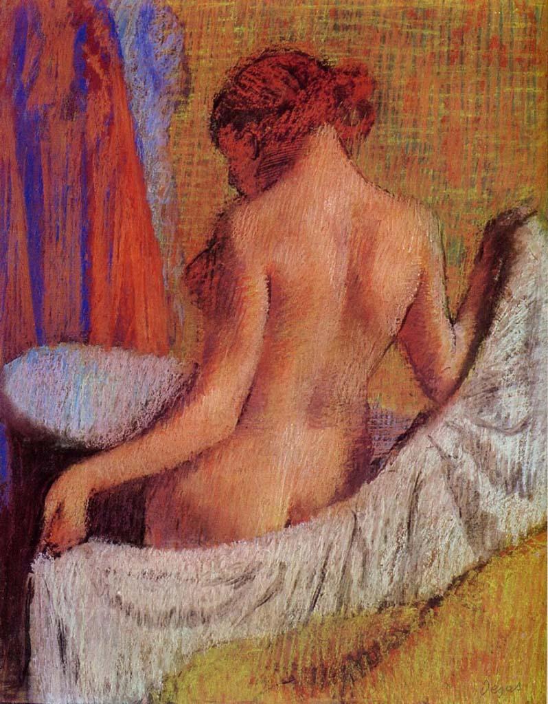 """Эдгар Дега (Edgar Degas), """"После ванны (6)"""""""
