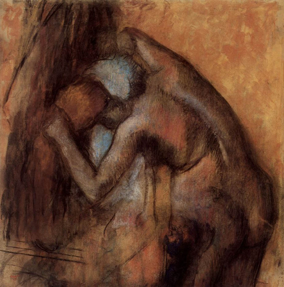 "Эдгар Дега (Edgar Degas), ""Обнаженная, вытирающая волосы"""