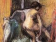 "Эдгар Дега (Edgar Degas), ""Обнаженная, входящая в ванну"""