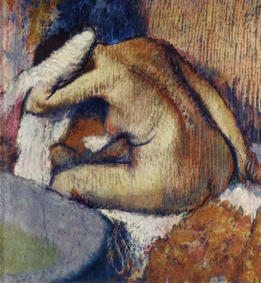 """Эдгар Дега (Edgar Degas), """"Женщина, вытирающаяся после мытья"""""""