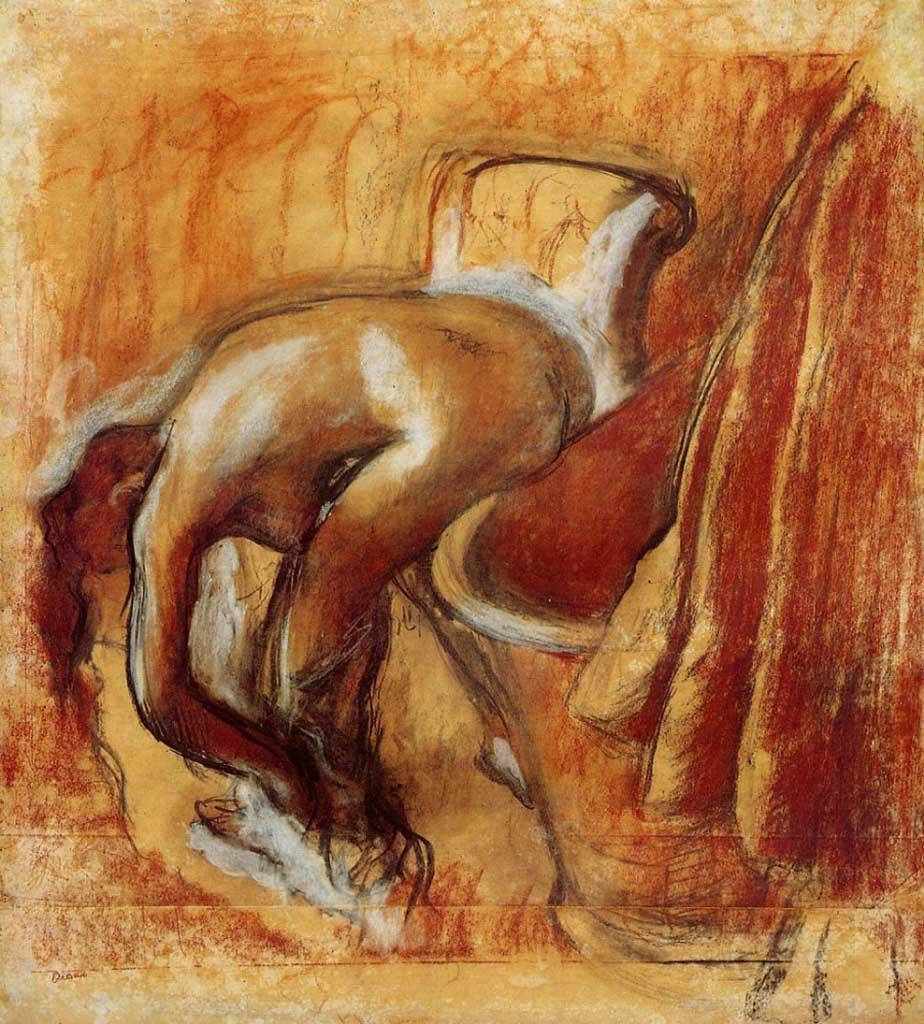 """Эдгар Дега (Edgar Degas), """"Женщина после ванны"""""""
