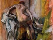 """Эдгар Дега (Edgar Degas), """"Женщина, выходящая из ванной"""""""