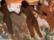 """Эдгар Дега (Edgar Degas), """"Девочки-крестьянки, купающиеся в море в сумраке"""""""