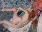 """Эдгар Дега (Edgar Degas), """"После ванны. Женщина, вид со спины"""""""